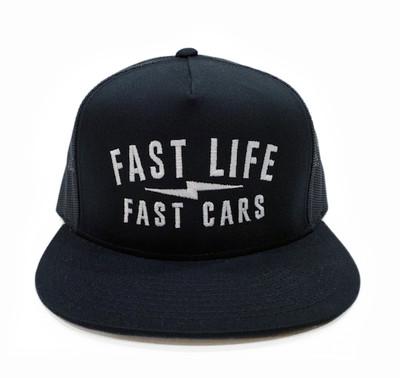 Fast Life Mesh Trucker Hat | Black