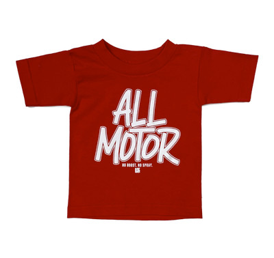 Kids All Motor T-Shirt | Red
