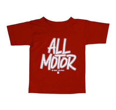 Kids All Motor T-Shirt   Red