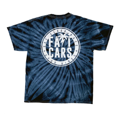 Bolt Palm Emblem T-Shirt | Blue Tie Dye