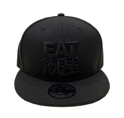 Logo New Era 9FIFTY Snapback Hat | Black/Black