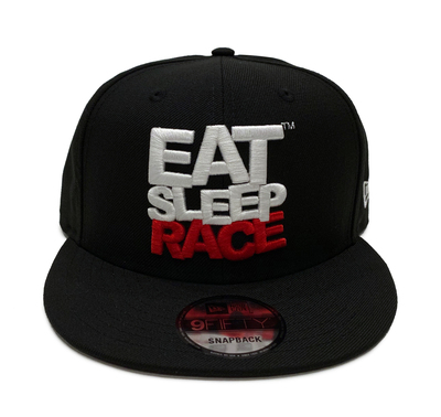 Logo New Era 9FIFTY Snapback Hat | Black/Red