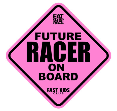 Future Racer on Board Car Decal | Pink