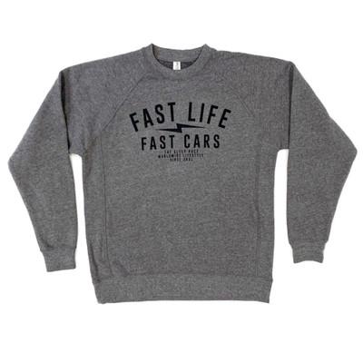 Fast Life Crewneck Sweatshirt | Grey