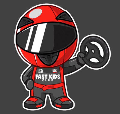 Ricky Racer Sticker | Red