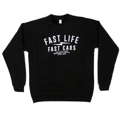 Fast Life Crewneck Sweatshirt | Black