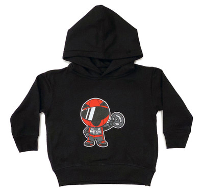 Toddler Ricky Racer Pull Over Hoodie | Black
