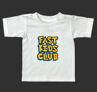 Fast Kids Club Cartoon T-Shirt | White