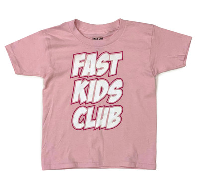 Fast Kids Club Comics T-Shirt | Pink