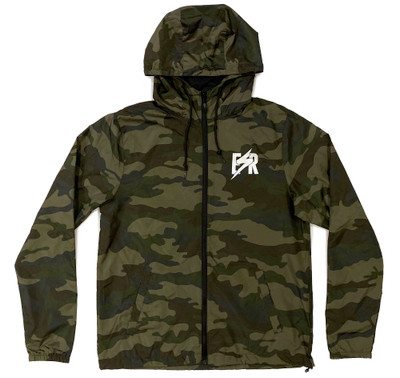 Emblem Windbreaker Jacket | Camo