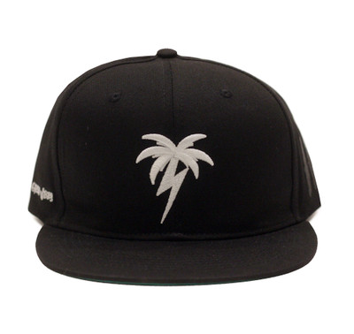 Bolt Palm Snapback Hat | Black/White