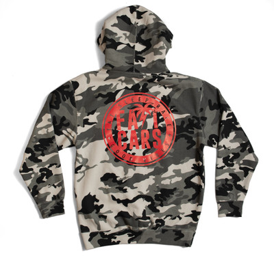 Pull Over Hoodie Bolt Palm Emblem | Snow Camo/Red