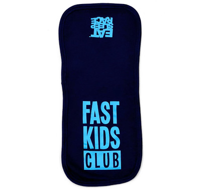 Infant Fast Kids Club Burp Cloth | Blue/Teal