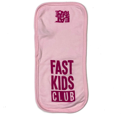 Infant Fast Kids Club Burp Cloth | Pink/Magenta