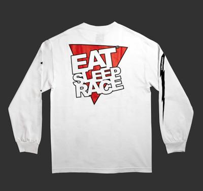 Logo Triangle Long Sleeve Shirt | White