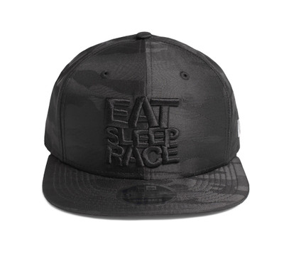 Logo New Era 9FIFTY Snapback Hat | Black Camo