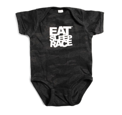 Infant One Piece Logo | Black Camo