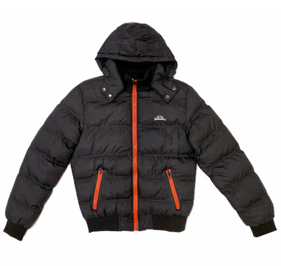 Hooded Down Jacket | Black