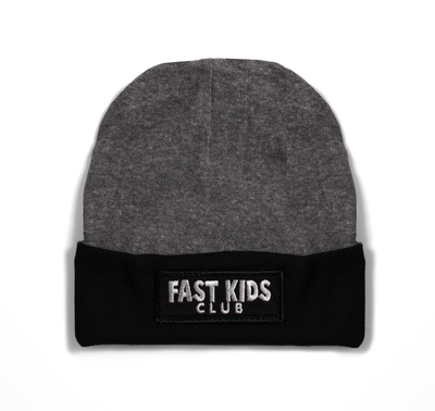 Toddler Fast Kids Club Beanie | Grey/Black