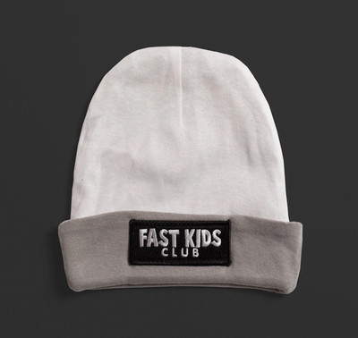 Toddler Fast Kids Club Beanie | White/Grey