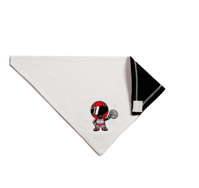 Infant Ricky Racer Bandana Bib | White Reversible