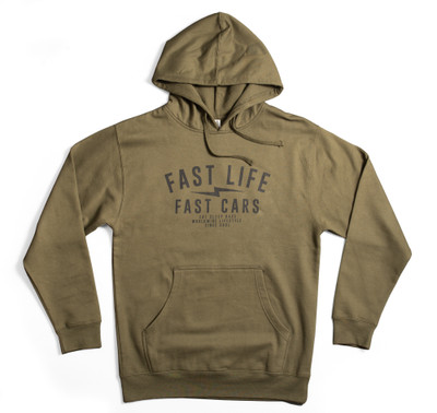 Fast Life Pullover Hoodie | Olive