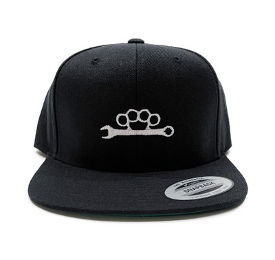 Knuckle Wrench Snapback Hat | Black