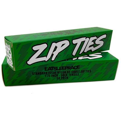 Black Zip Ties  50-Pack | Green Bolt