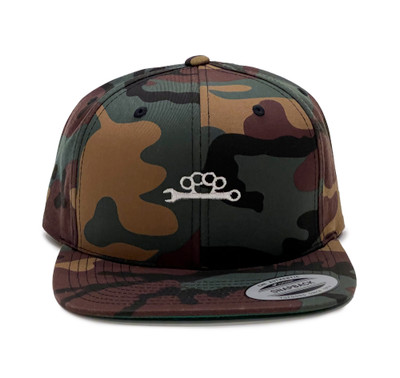 Knuckle Wrench Snapback Hat | Camo