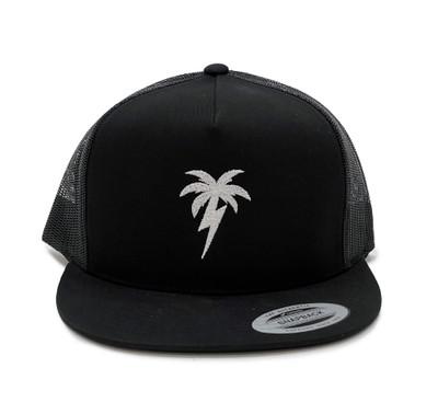 Bolt Palm Mesh Trucker Hat | Black/White