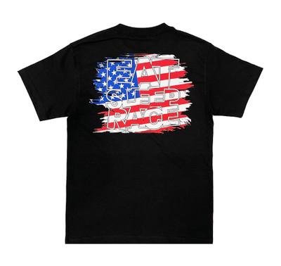Logo Square T-Shirt | USA Flag
