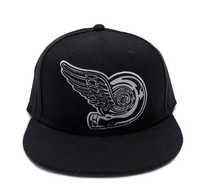 Turbo Wing Fitted Hat   Black-Black