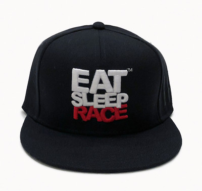 Logo Team Fitted Hat | Black-Red (OG)