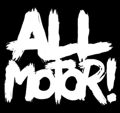 All Motor Vinyl Decal | White