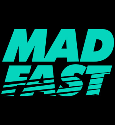 Mad Fast Vinyl Decal | Teal