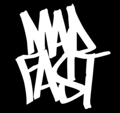 Mad Fast Graffiti Vinyl Decal | White