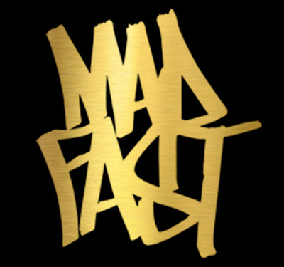 Mad Fast Graffiti Vinyl Decal | Gold Foil