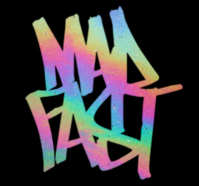 Mad Fast Graffiti Vinyl Decal | Chrome Oil