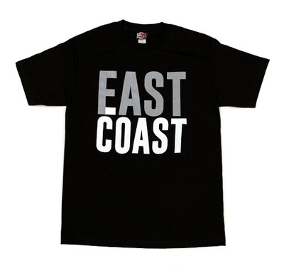 East Coast Fast Coast Bold T-Shirt | Black/Grey