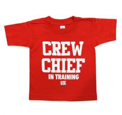 Kids Crew Chief T-Shirt | Red