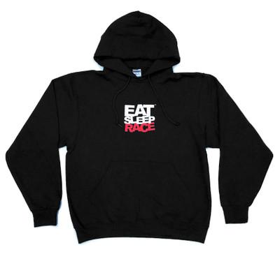 Pull Over Team Logo Hoodie   Black/Red