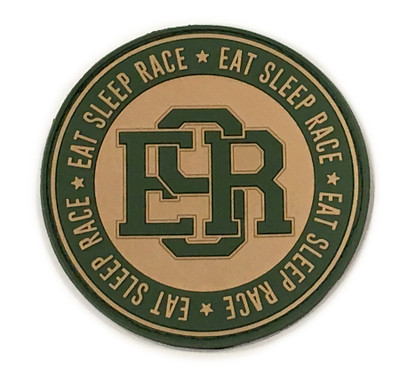 Rubber Velcro Circle ESR Patch | Olive/Khaki