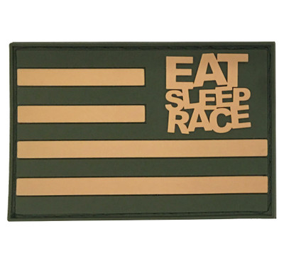 Rubber Velcro Flag Patch | Olive/Khaki