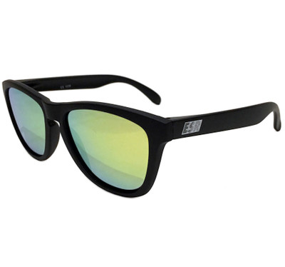 ESR Speed Line Sunglasses | Matte Black/Gold Iridium (Polarized) | Hard Case
