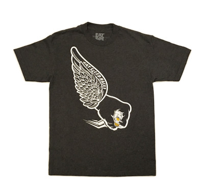 Skull Wing T-Shirt | Charcoal
