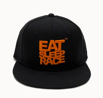 Logo Team Snapback Hat | Black/Orange