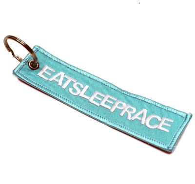 Embroidered Keychain | Teal