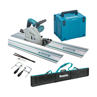 Makita SP6000J3 Plunge Cut Saw - Includes 2 Rails, Connectors, Clamps, Holder