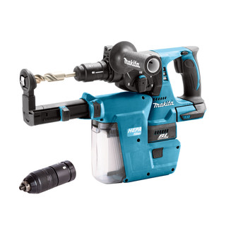 Makita DHR243ZV 18v SDS+ Brushless Hammer Drill With Extractor (Body Only)