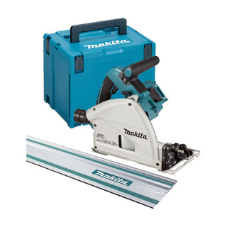 Makita DSP600ZJ1 Twin 18v Brushless 165mm Plunge Saw - Includes 1 Rail (Body Only + Case)